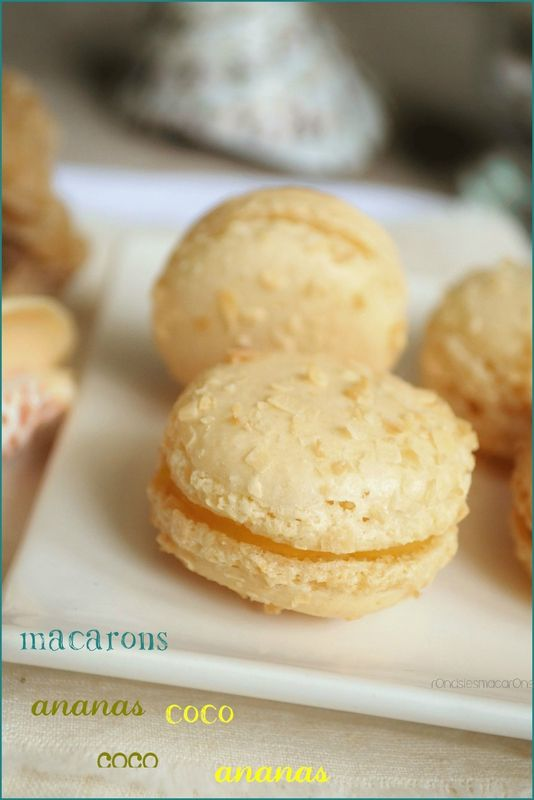 Macarons ananas et coco  Coco and pineapple macaroons www.nutrigood.fr