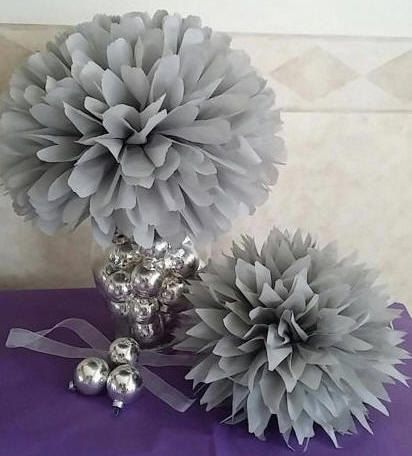 Set of 12 Poms. Party paper pom poms, pom poms, paper pom poms, tissue paper flowers, hanging flower balls. Pick your colors