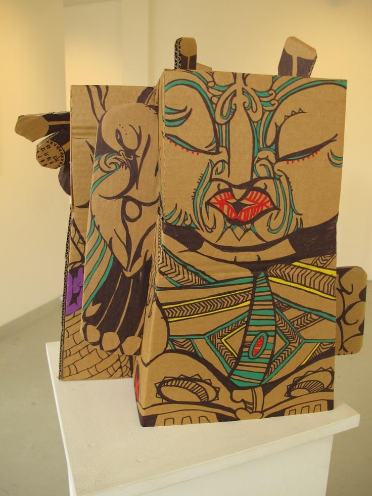 Pou-haumanu     artist :Reweti Arapere     Piri peka