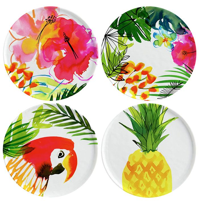 Margaret Berg Art: Jungle Tropics Plate Set