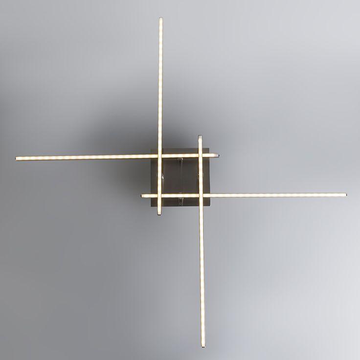 Plafond 'Junction' Moderna stål - LED inkluderat / Inomhus