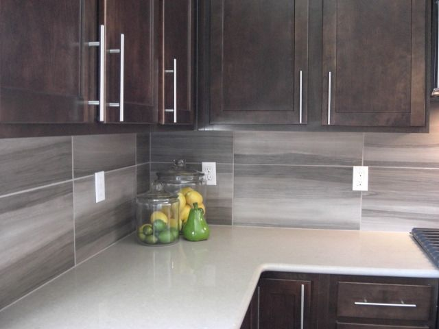 Contemporary 12 X 24 Backsplash Kitchen Backsplash