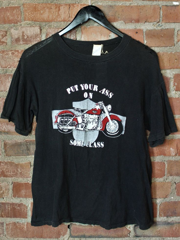 Vintage Motorcycle Graphic T Shirt