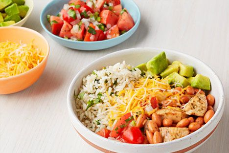 Out from Under Wraps: Chicken Burrito Bowls