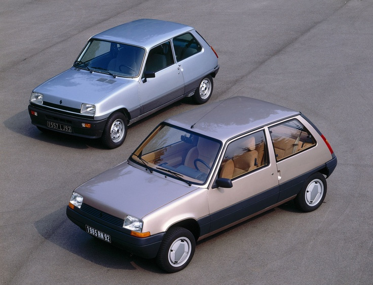 "Renault 5. While the first one was cute, the 2nd, Gandini's ""Supercinq"" was a…"