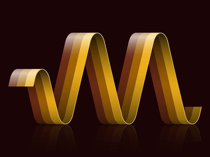 A1–Z26 / M13 V2 #graphic #design #typography #ribbon
