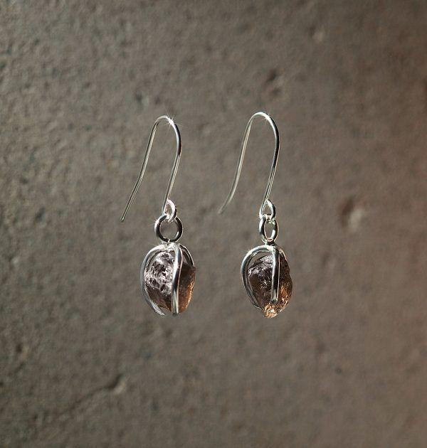 Karu One – Dark Smokey Quartz Earrings