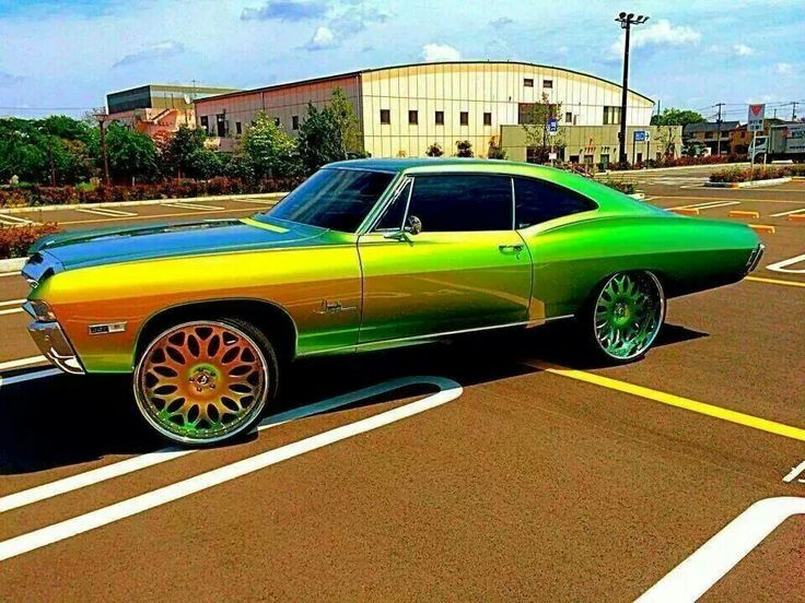 El Dog Caddy Big Rims Custom Paint Pinterest Cadillac