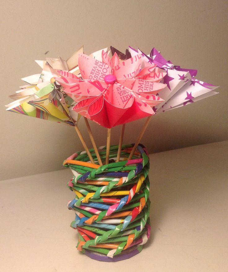 74 best decoraciones y objetos hechos con papel de for Decoraciones de papel