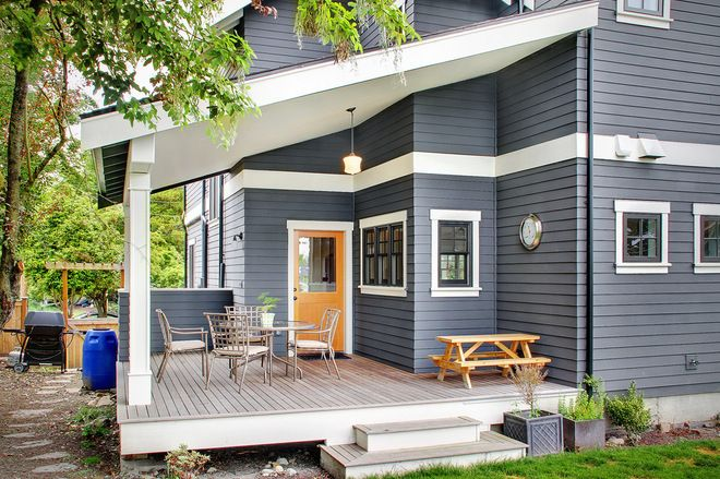 traditional exterior by RW Anderson Homes (houzz.com... how to create a cohesive space)