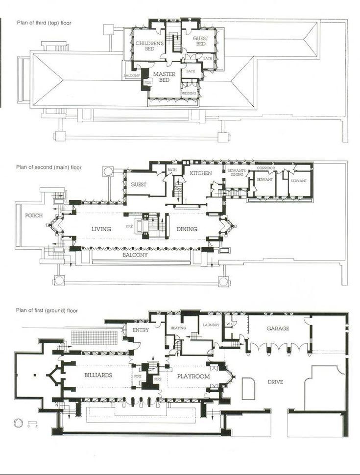Frank lloyd wright robie house floor plan the plan for Frank lloyd wright style house plans