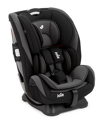 The Joie Every Stage car seat is four seats in one and will last your baby from birth right until they no longer need to use a seat at around 12 years old. It can also be used in the rear-facing position for longer - until your child is 4 years old.