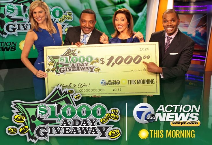 7 Action News This Morning $1,000-A-Day Giveaway