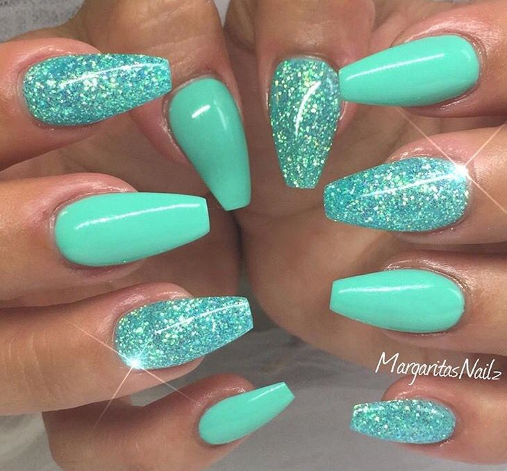 Turquoise glitter. Coffin Nail DesignsTeal ... - Best 25+ Turquoise Nail Designs Ideas On Pinterest Turquoise