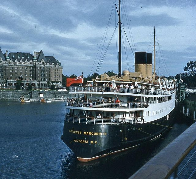 Princess Marguerite II, c.Late-1950s | Flickr - Photo Sharing! Fond memories of sailing on this CPR Ferry and her sister the Princess Patricia.