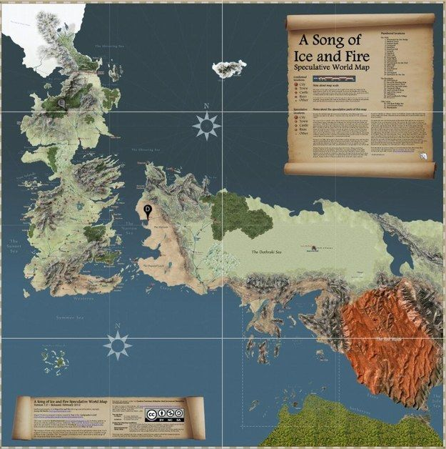 """Finally, The Interactive Map """"Game Of Thrones"""" Deserves"""