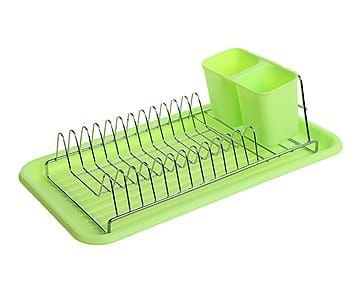 Escurreplatos de pl stico y metal classic verde - Escurreplatos plastico ...