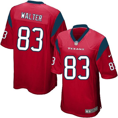 Nike Houston Texans Jersey #83 Kevin Walter Red Jersey Youth Limited NFL Jersey Sale