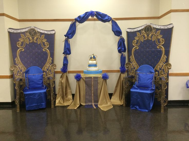 Royal Prince Theme Baby Shower King And Queen Chair