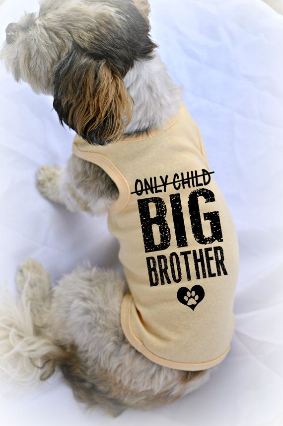 Custom Dog Tank Tops. Only Child Big Brother Dog by RedemptionDog