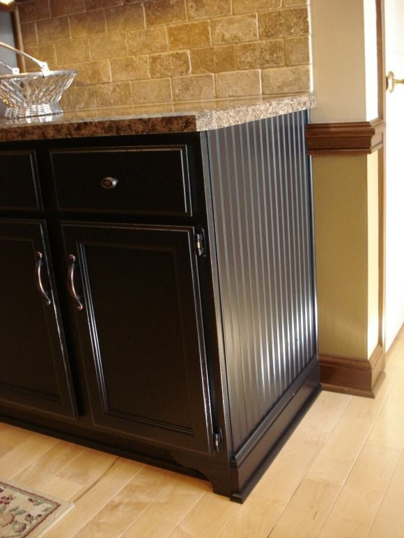 22 Year Old Kitchen Update Updated By Painting Cabinets Adding Wainscoting Crown