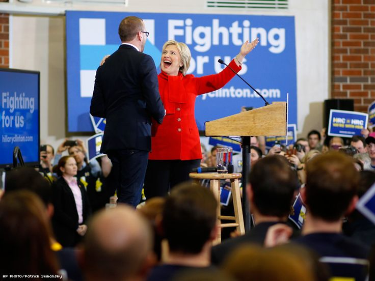 WATCH: Human Rights Campaign's Chad Griffin Rallies With Hillary Clinton in Iowa