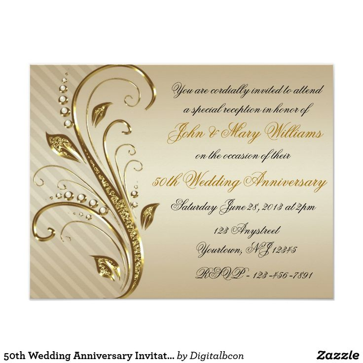 The 25 best 50th wedding anniversary invitations ideas on 50th wedding anniversary invitation card stopboris Gallery