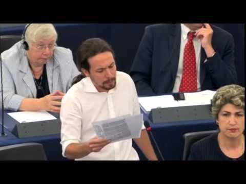 Pablo Iglesias - Discurso en el Parlamento Europeo, 01/07/2014