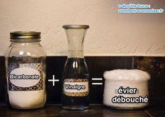 2 Astuces Efficaces pour Déboucher un Évier Naturellement...Vinaigre, gros sel, bicarbonate de soude. eau bouillante ou dévisser le syphon.