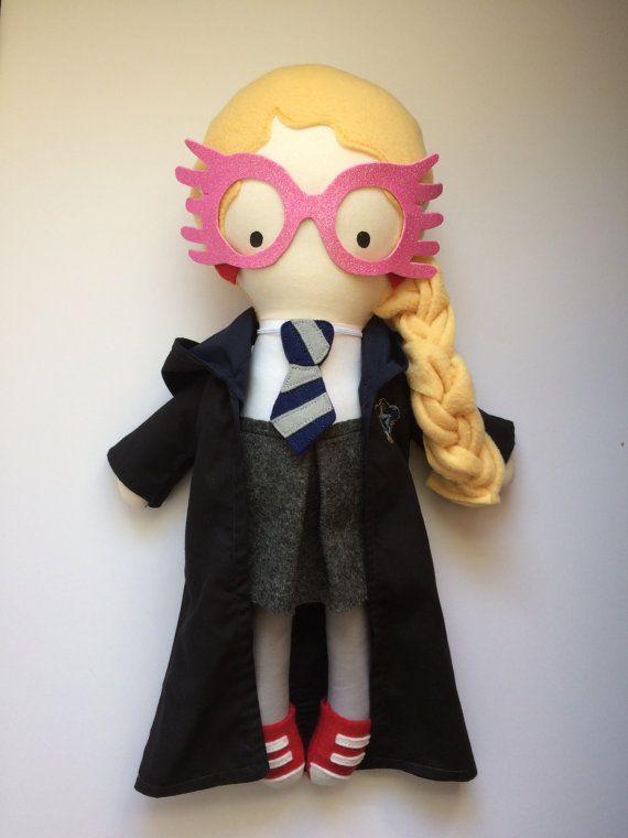 Luna Lovegood muñeca - muñeca hecha a mano - tela muñeca - muñeca - Harry Potter - Geek cultura Pop Doll - Fangirl