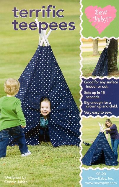 teepeeArt Crafts, Terrific Teepees, Sewing Baby, For Kids, Teepe Pattern, Paper Pattern, Sewing Pattern, Sew Baby, Baby Pattern
