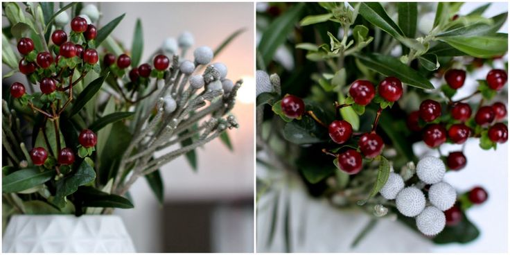 EN LET BUKET TIL JULEBORDET - A christmas-bouquet