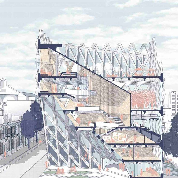 Cool Architecture Design Drawings best 25+ section drawing ideas on pinterest | architectural