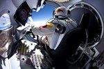Pilot Felix Baumgartner prepares to exit the capsule before his jump at the first manned test flight for Red Bull Stratos in Roswell, New Mexico  March 15, 2012. In this test he reached 71,581 ft and landed safely near Roswell.