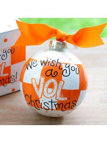 $14.50 4 University of Tennessee We Wish You Glass Keepsake Ornament ...
