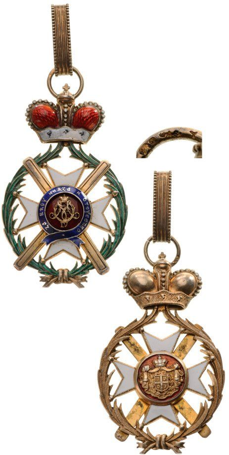 ORDER OF TAKOVO Grand Cross Set, 1st Class - Principality of Serbia 19th Century