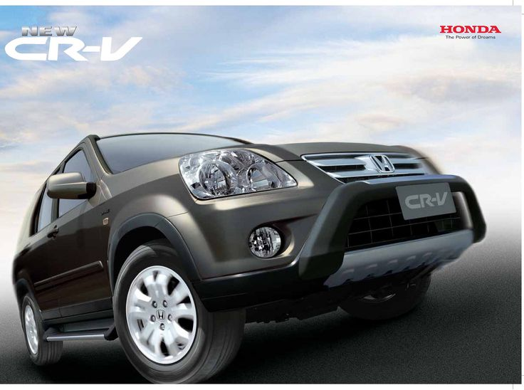 Honda CR-V Mk2 India Brochure 2006