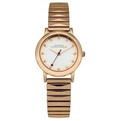 Johnny Loves Rosie Rose Gold Expander Strap Midi Dial Watch