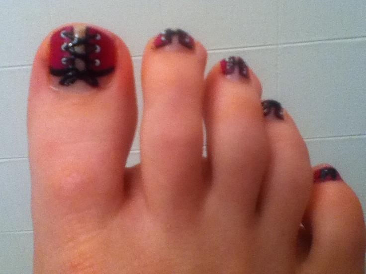 corset toe nail art too easy