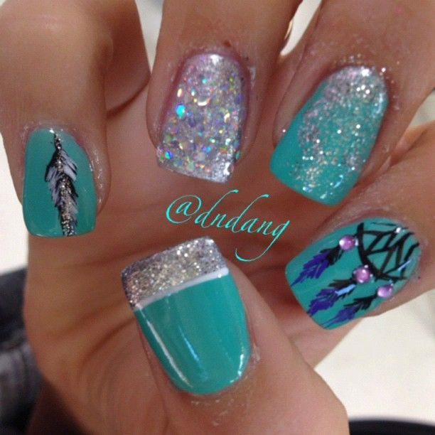 Turquoise Stiletto Nail Art: 25+ Best Ideas About Turquoise Nail Designs On Pinterest