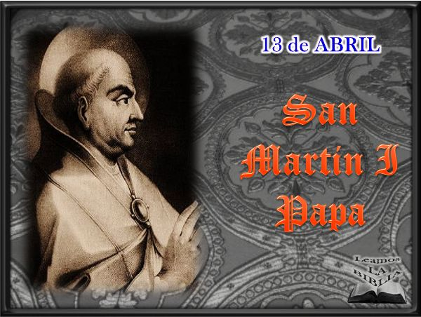Leamos la BIBLIA: San Martin I Papa