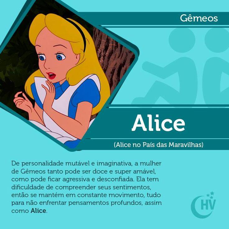 Princesa de Gêmeos. #horóscopovirtual #princesas #signos #Alice #gêmeos