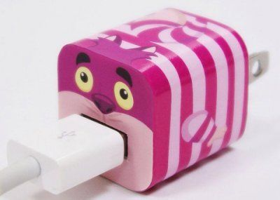 Disney Iphone Charger USB Skin Sticker Wrap -Sticker Only Not Include Charger (Cheshire Cat)