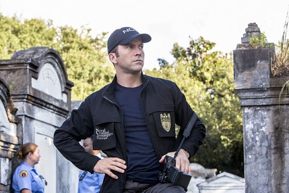 I gotta say, this boy looks good in a hat! It's especially cute when he turns it backwards to charge into a house. NCIS New Orleans Halloween Episode