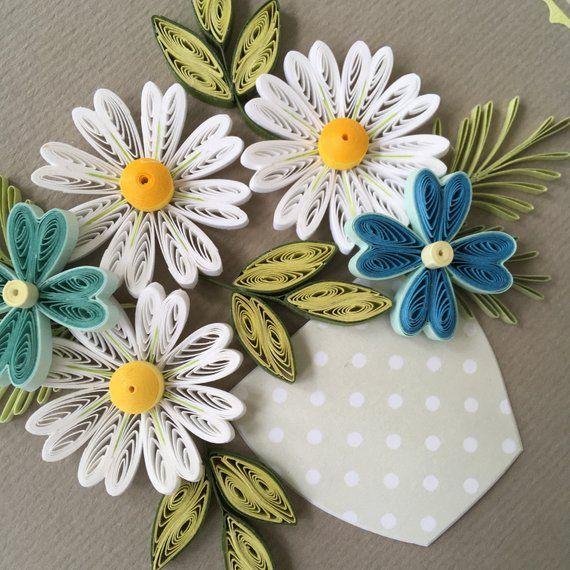 Handmade quilling postcard