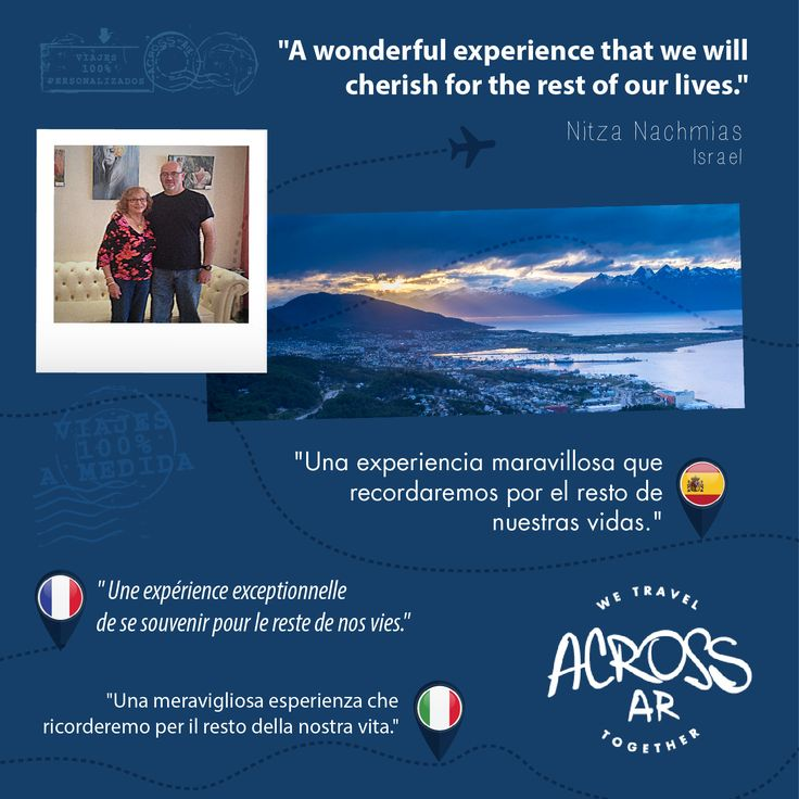 Read our travelers' testimonies, discover their travel experiences and find out why Nitzas' experience will be remembered forever > http://goo.gl/ac9oHF ••• Lea los testimonios de nuestros viajeros, descubra maravillosas experiencias de #viaje y comprenda por qué la experiencia de Nitza será recordada por siempre > http://goo.gl/U2LvhB ••• #WeTravelTogether #travelers #tripreviews #traveltestimonies #travelexperiences #ViajamosJuntos #viajeros #testimoniosDeViaje #experienciasDeViaje #Viajes