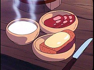 アルプスの少女ハイジ チーズ黒パンとスープ