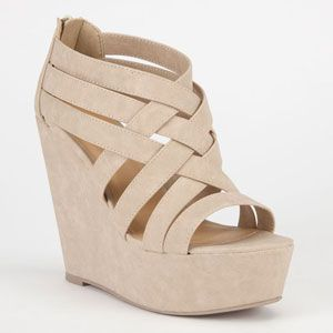 1000  images about Nude wedges on Pinterest | Low heel shoes, Nude ...