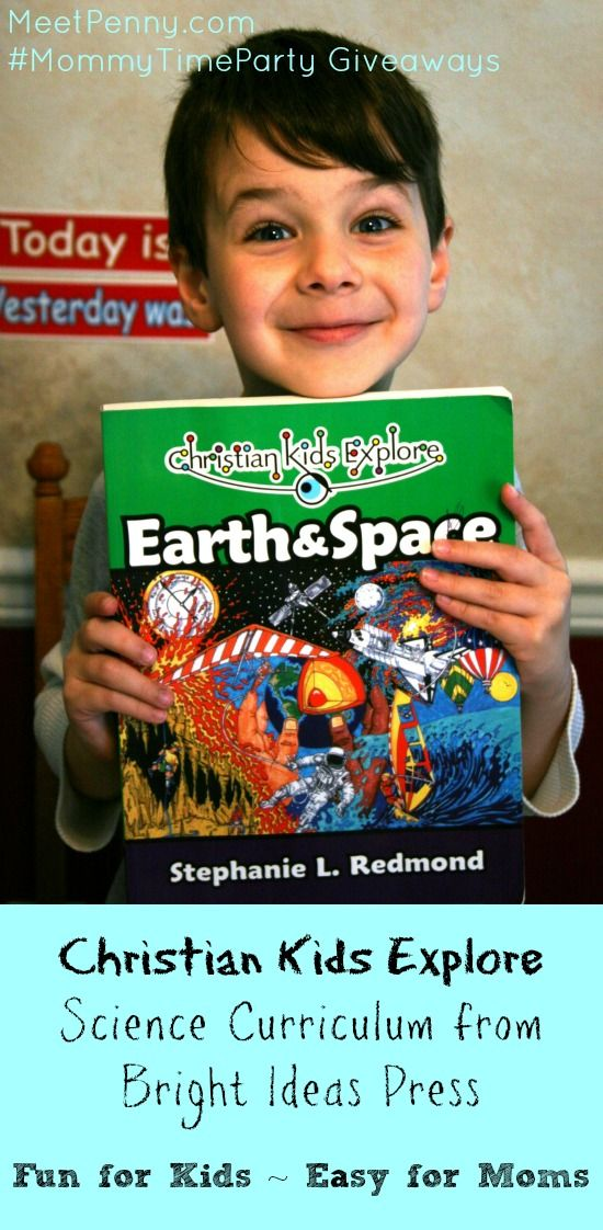 Christian Kids Explore is homeschool science curriculum by @Alice O'Bright Ideas Press. Fun for the children but easy for the Mom. Enter to win at #MommyTimeParty 5/14-5/24
