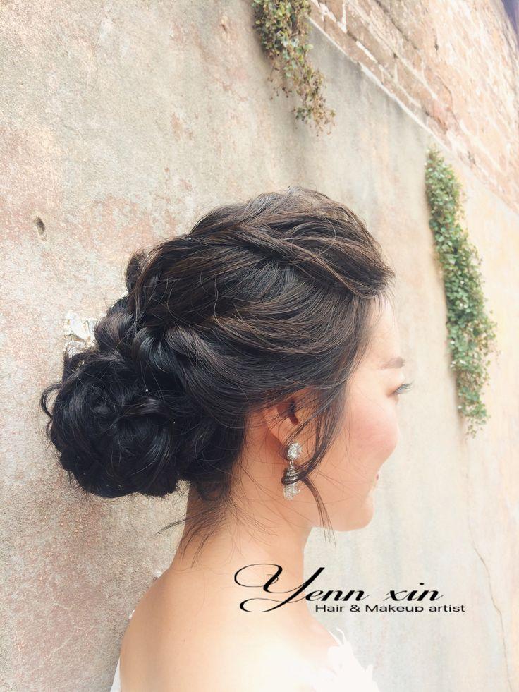 wedding hairstyle, softupdo, bridal hairstyle.